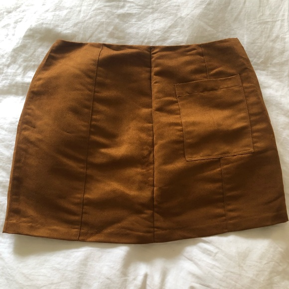 Old Navy Dresses & Skirts - Brown suede old navy miniskirt